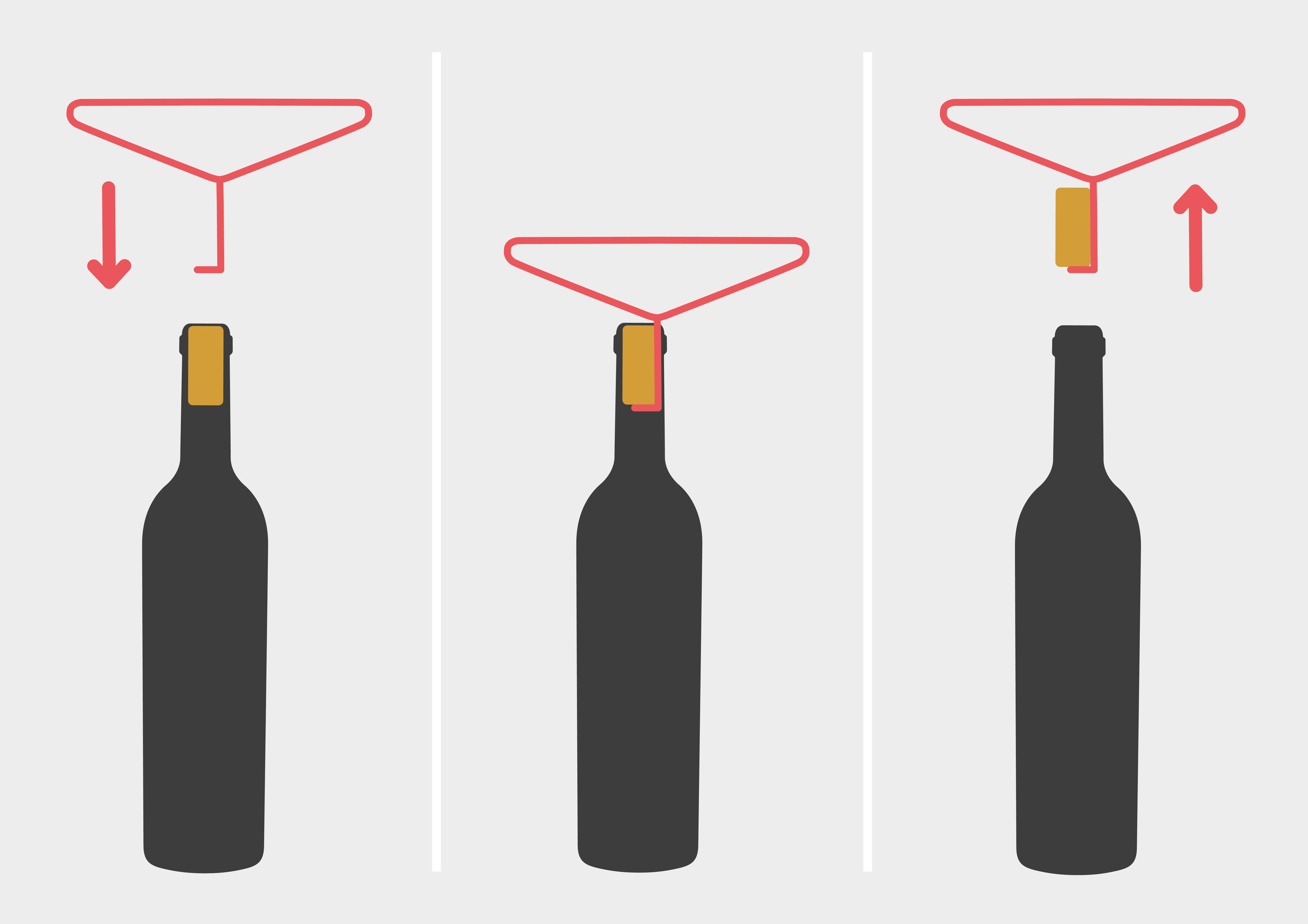 Weinflasche öffnen mit Kleiderbügel