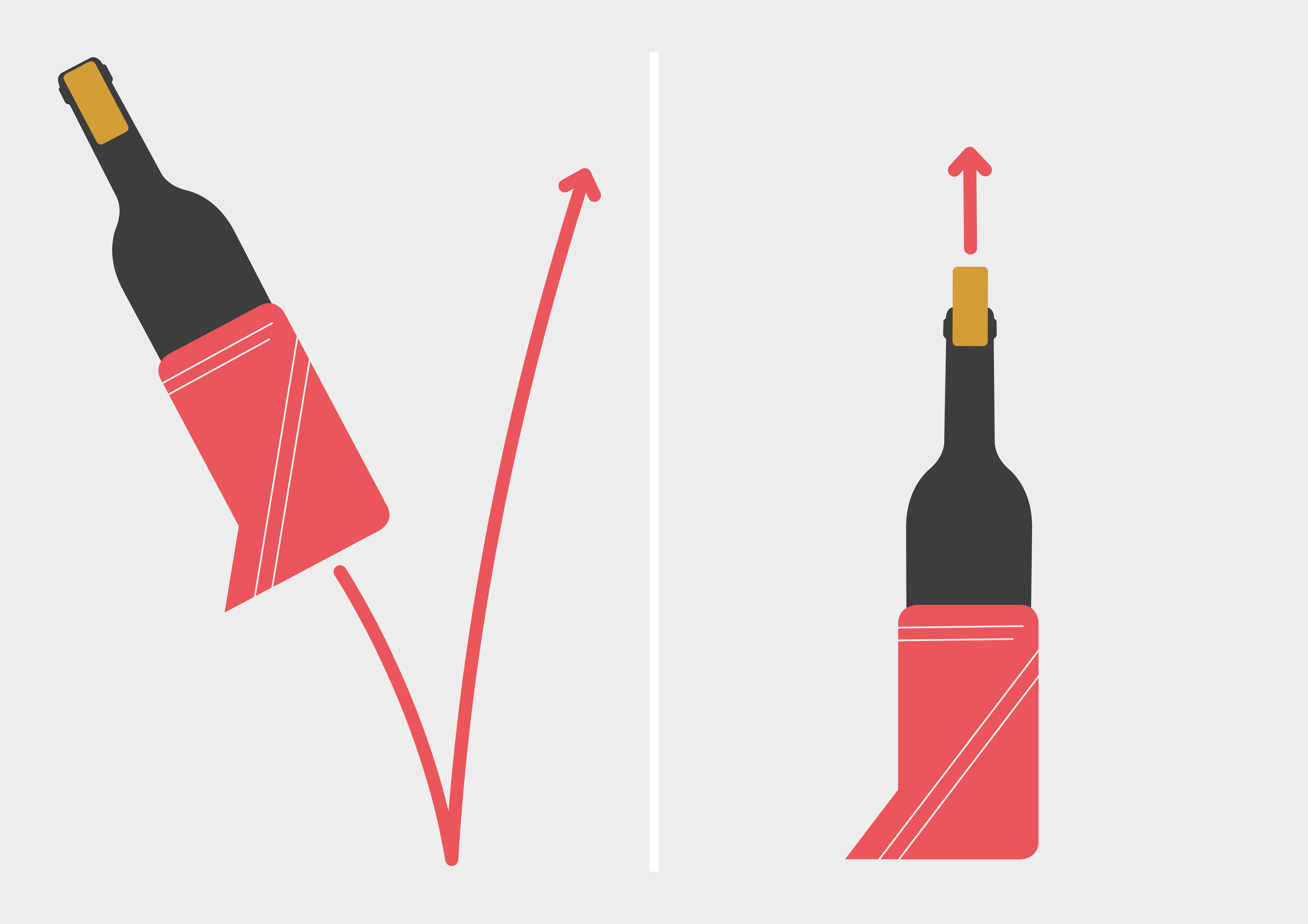 Weinflasche öffnen mit Schuh-Trick