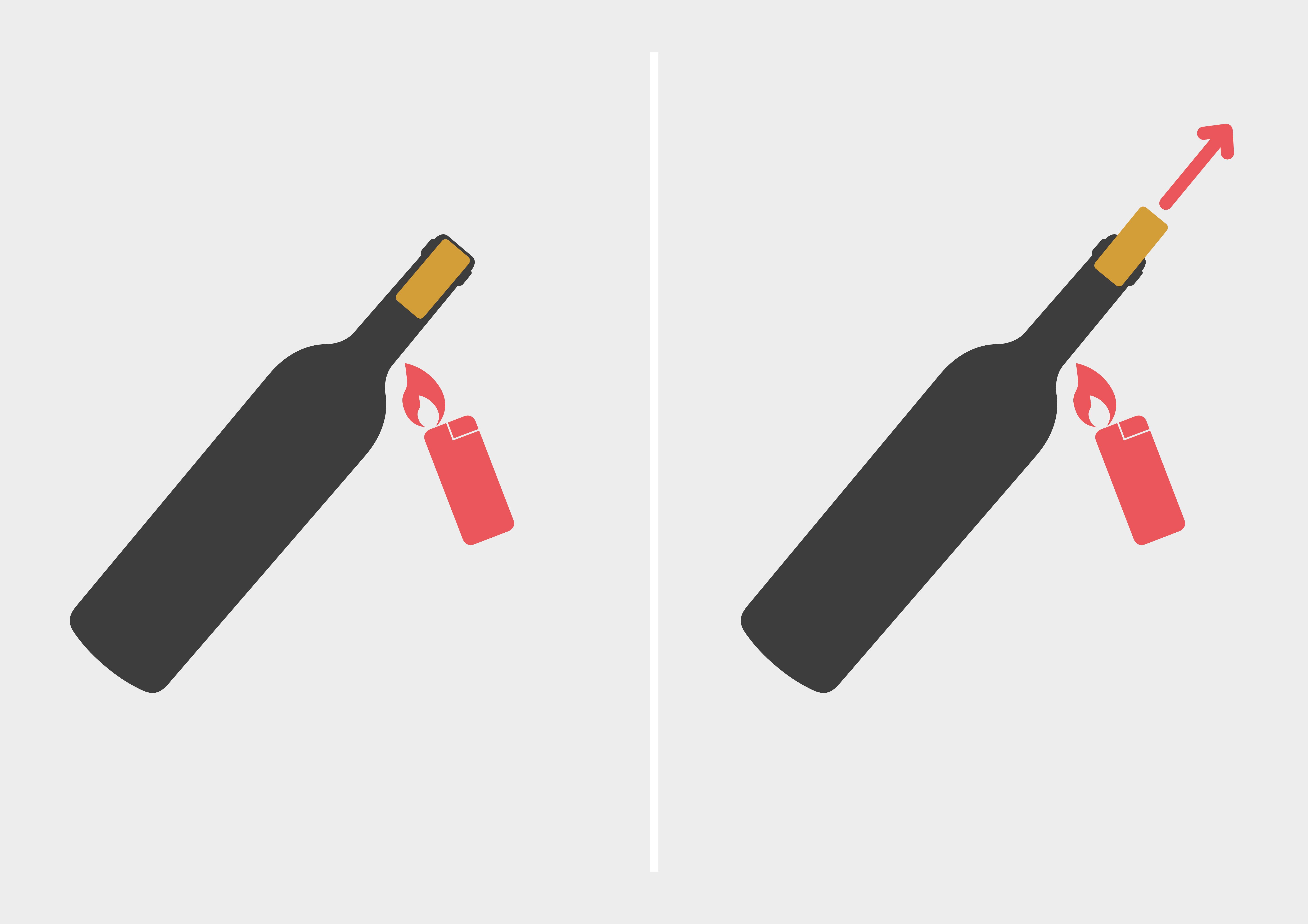 Weinflasche ohne Korkenzieher öffnen