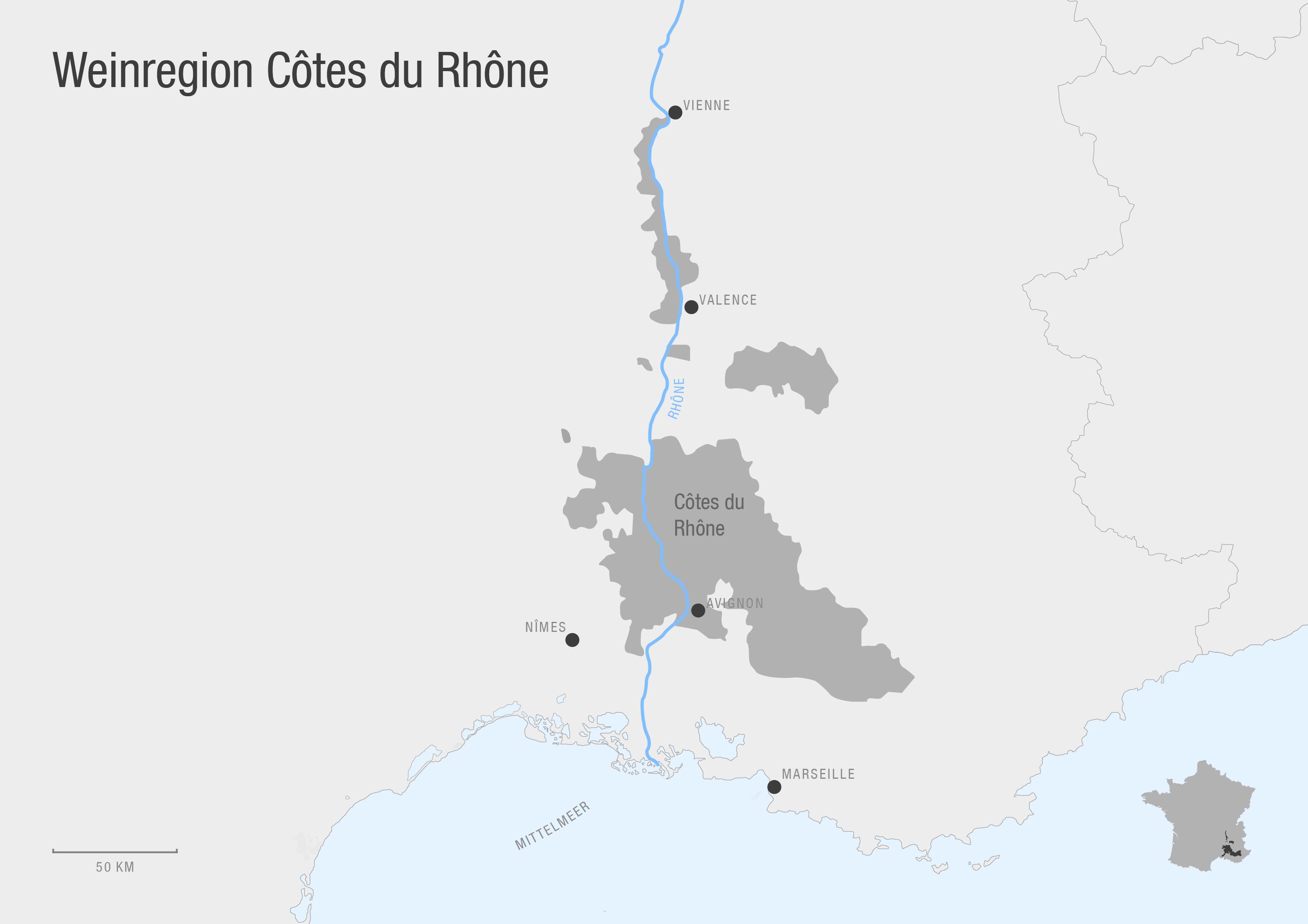 Weinbauregion Côtes du Rhône