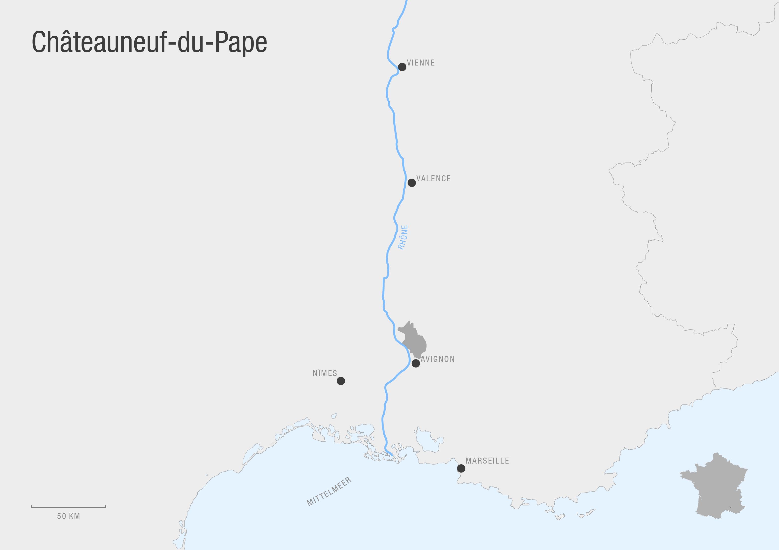 Châteauneuf-du-Pape Karte