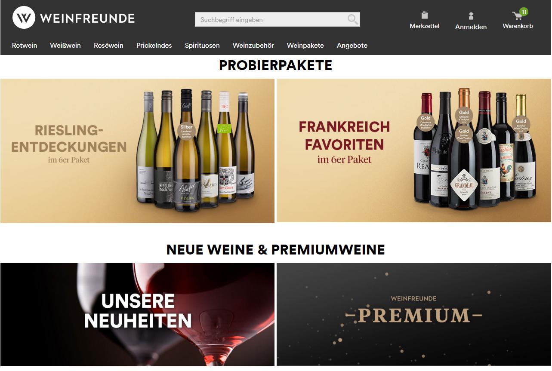 Weinfreunde Startseite