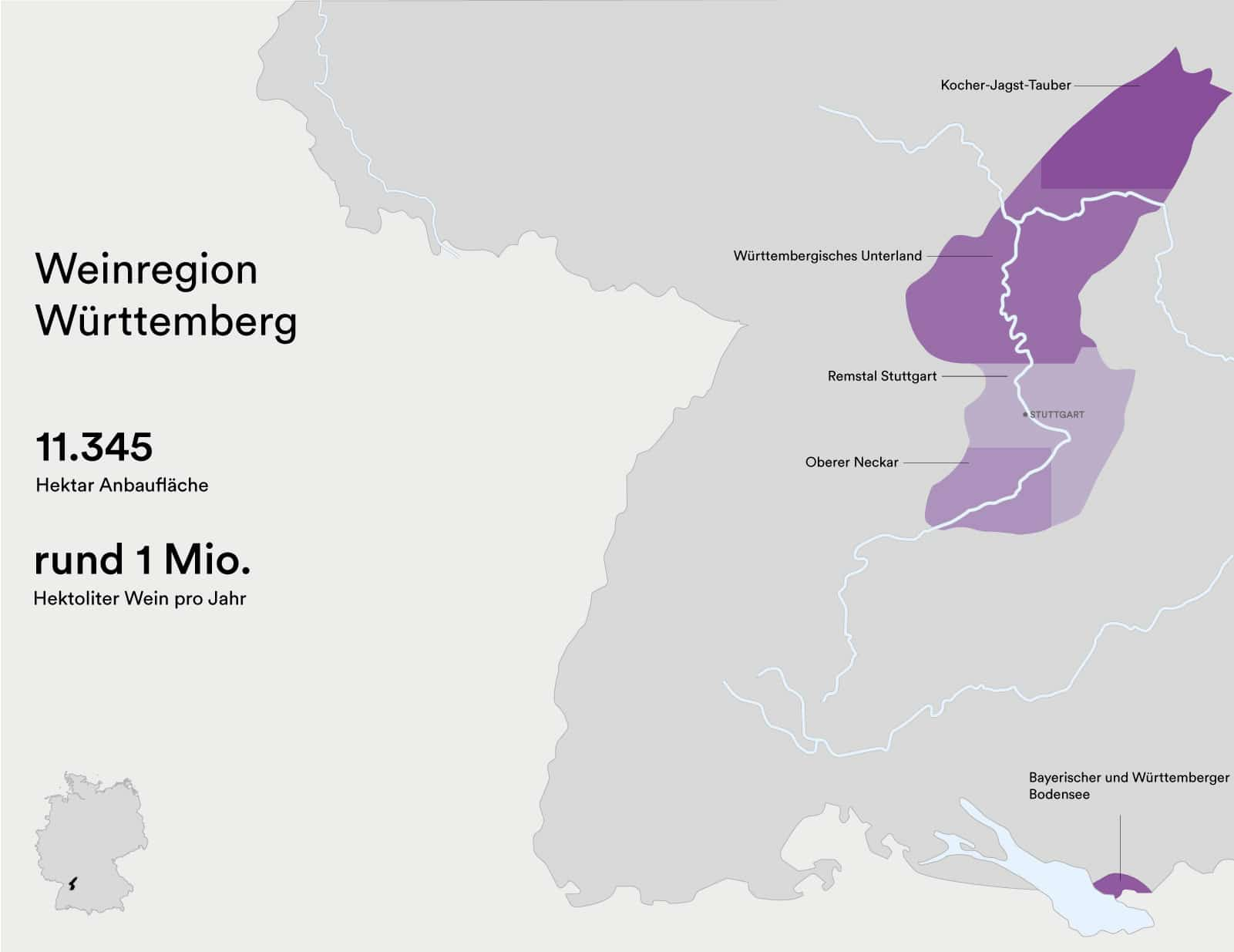 Weingebiet Württemberg