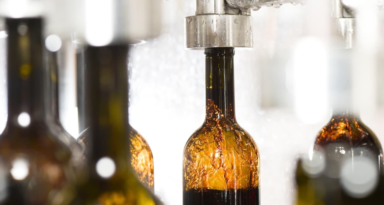 Abfüllung Wein