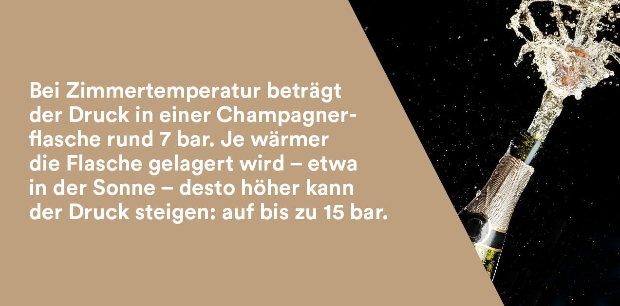 Champagner Flaschendruck